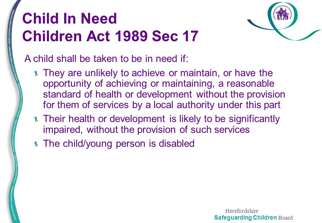 Child In Need Children Act 1989 Sec 17