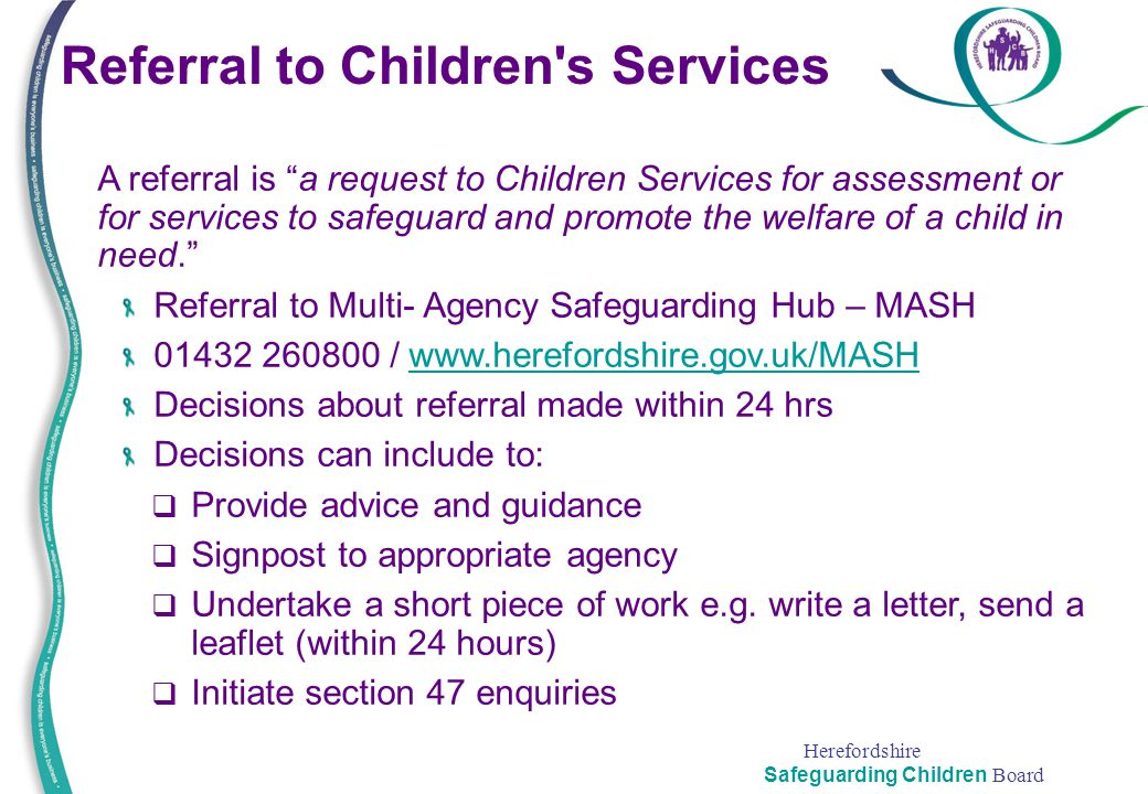 Referral to Children s Services