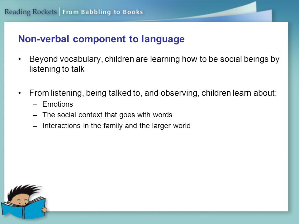 Non-verbal component to language
