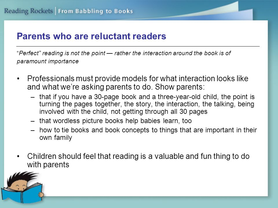 Parents who are reluctant readers