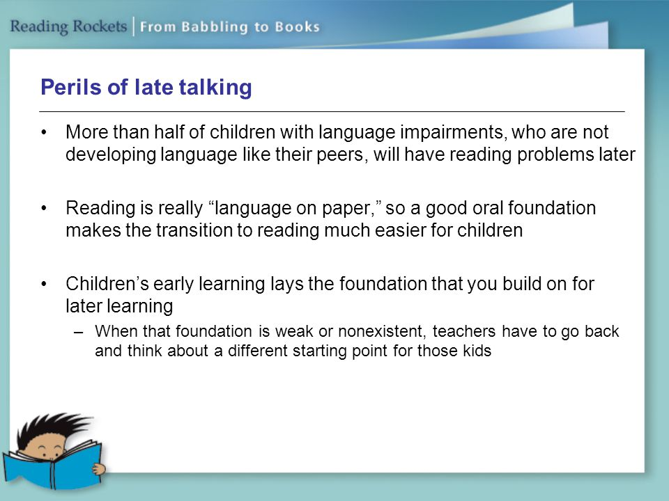 Perils of late talking