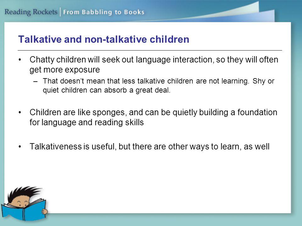 Talkative and non-talkative children