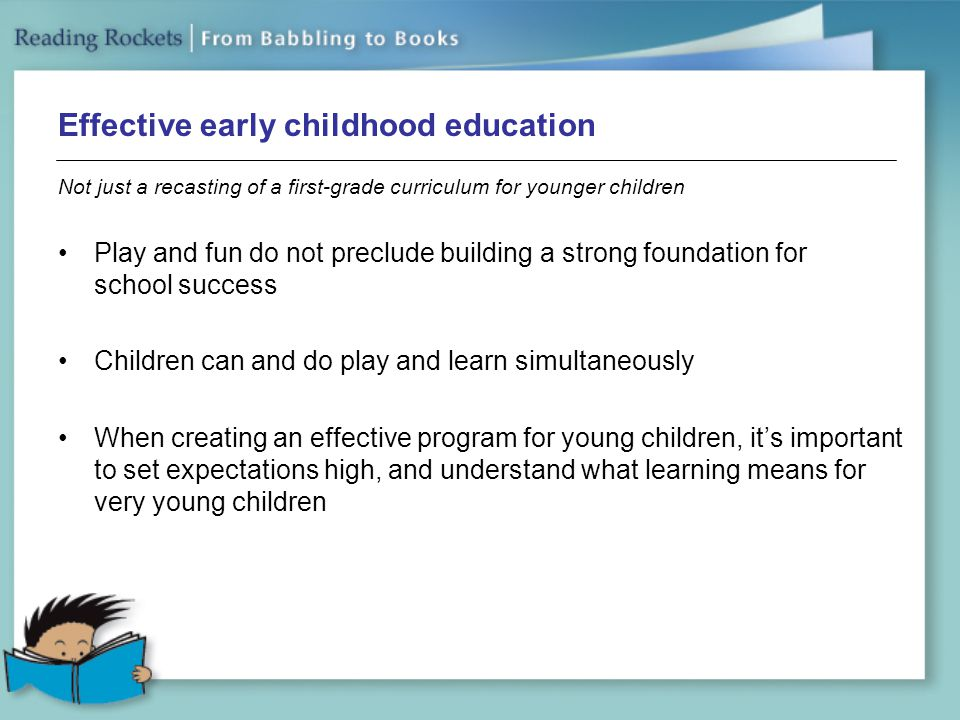 Effective early childhood education
