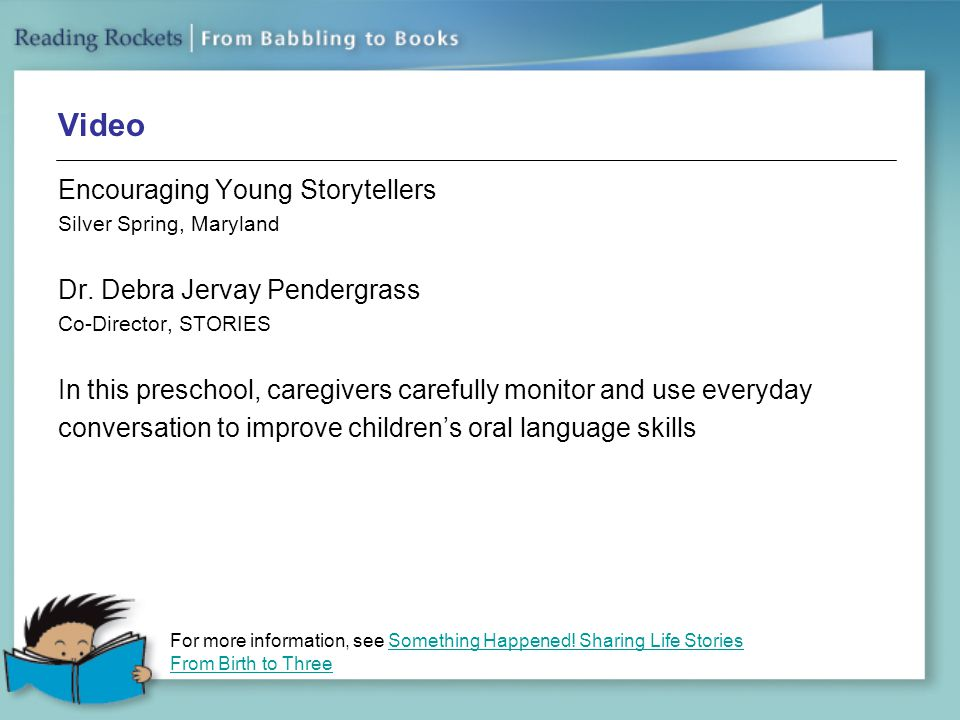 Video Encouraging Young Storytellers Dr. Debra Jervay Pendergrass