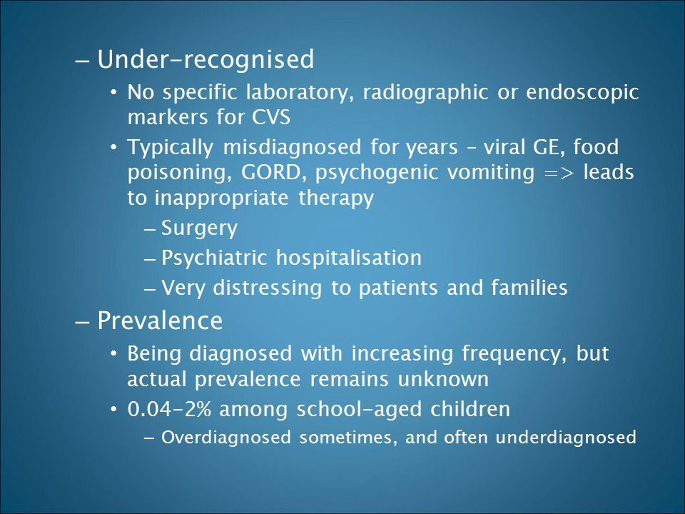 Under-recognised Prevalence