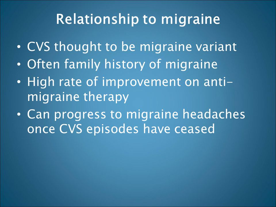 Relationship to migraine