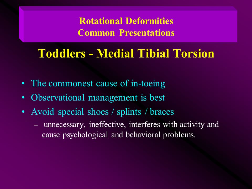 Rotational Deformities Common Presentations