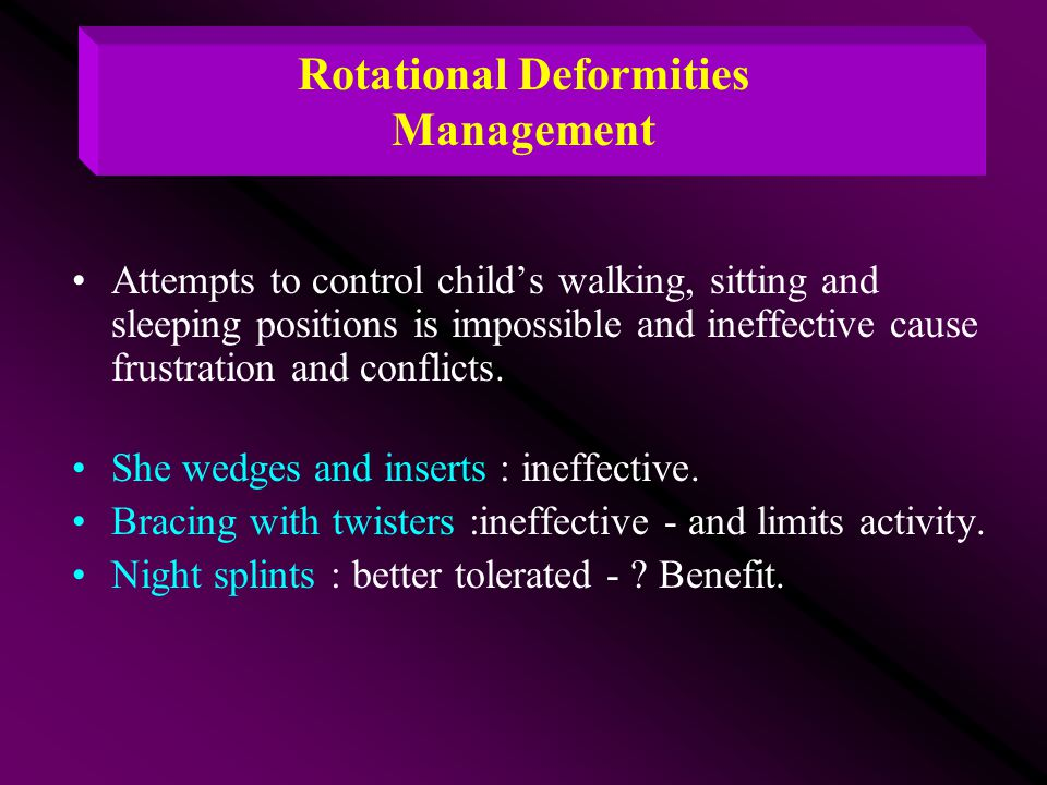 Rotational Deformities Management