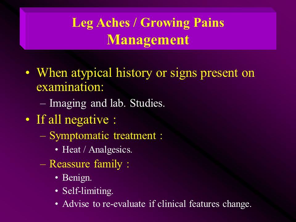 Leg Aches / Growing Pains Management