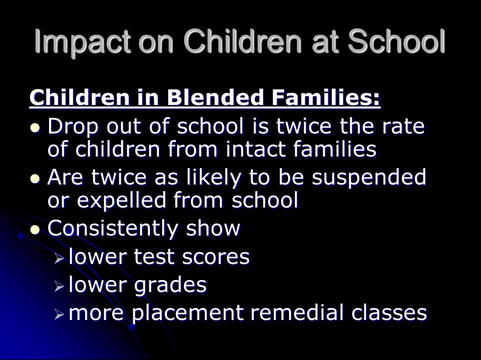 Impact on Children at School
