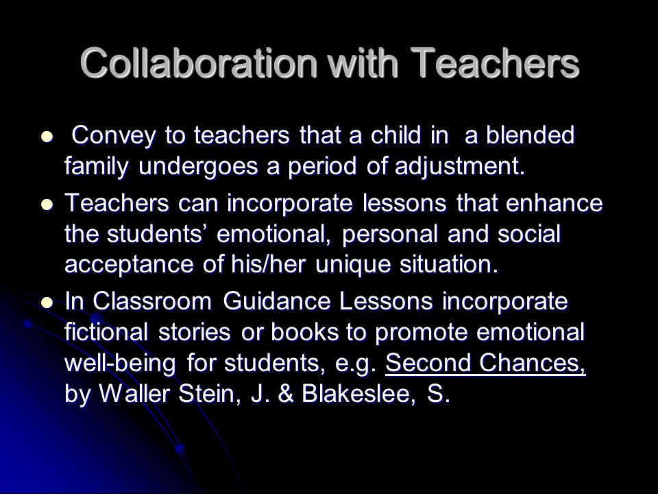 Collaboration with Teachers