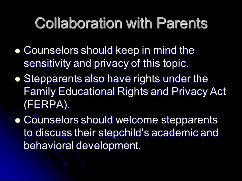 Collaboration with Parents