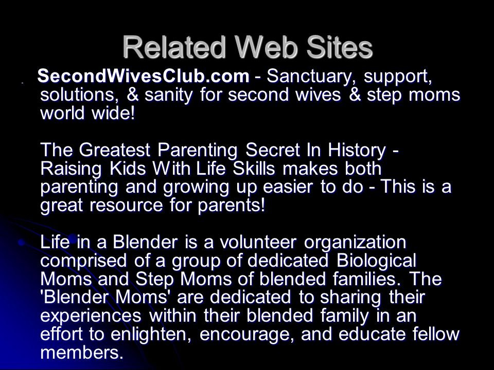 Related Web Sites