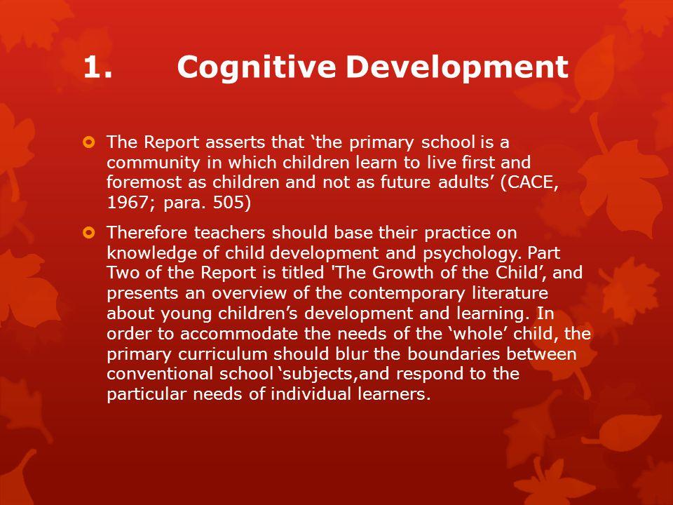 1. Cognitive Development