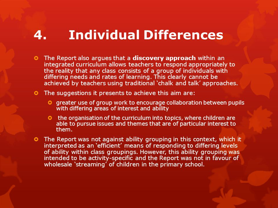 4. Individual Differences