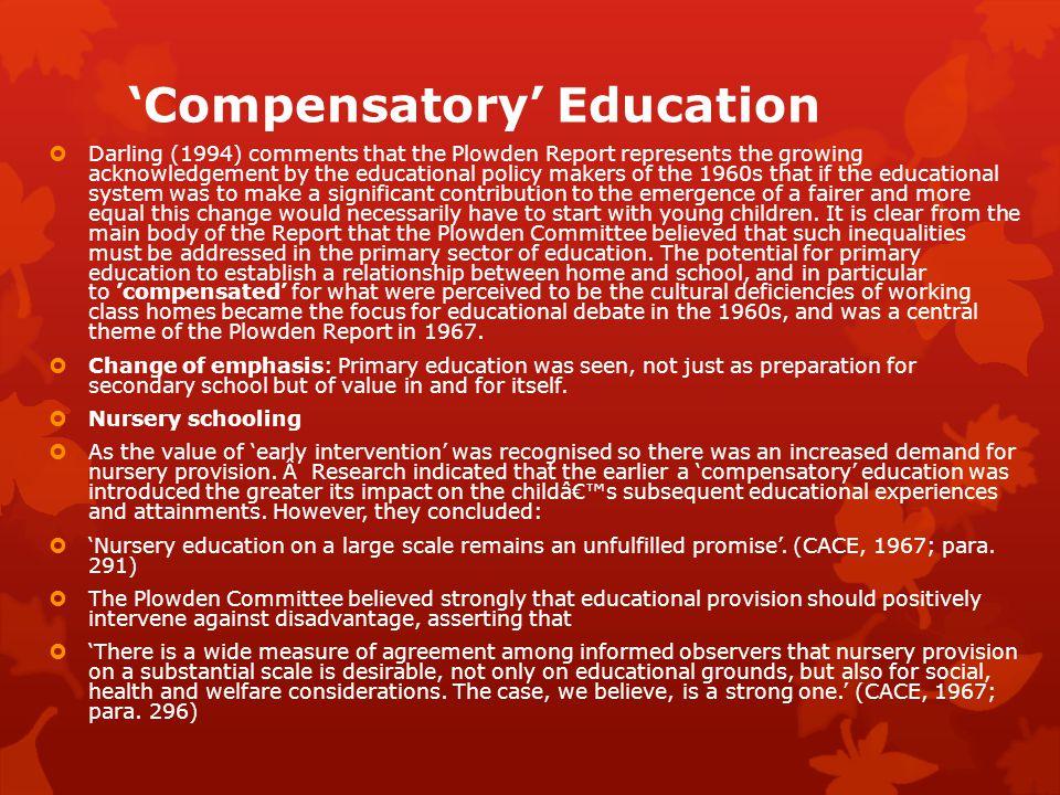 'Compensatory' Education