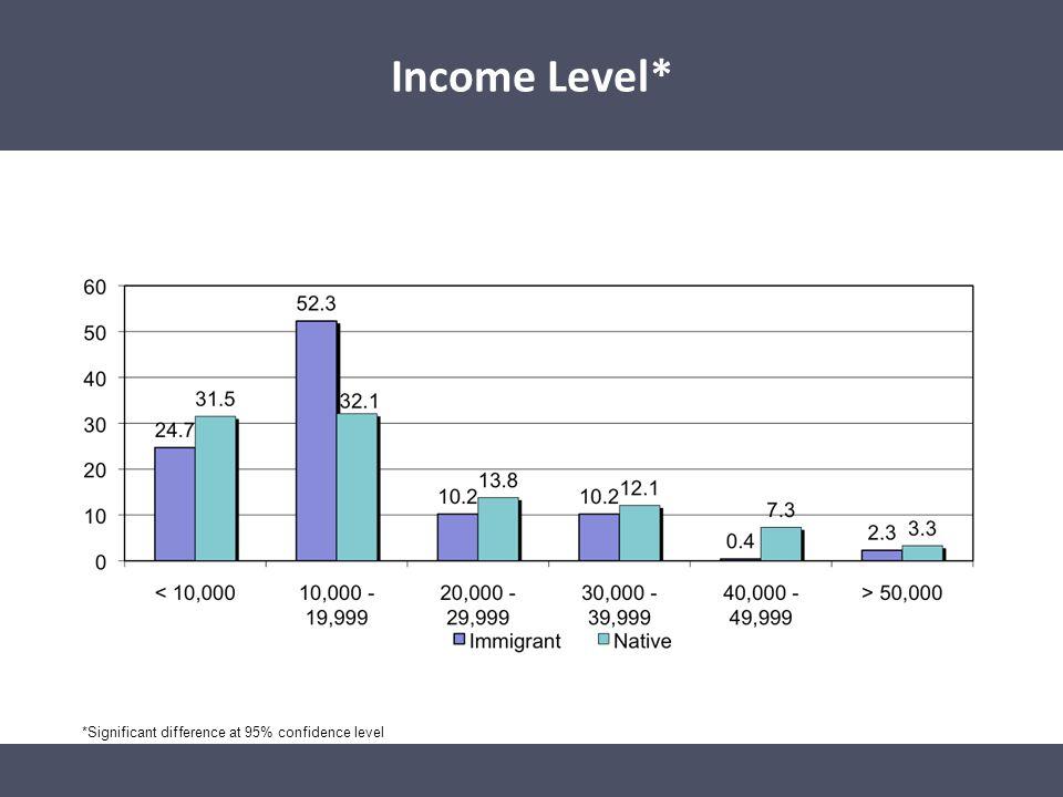 Income Level* Income Level*