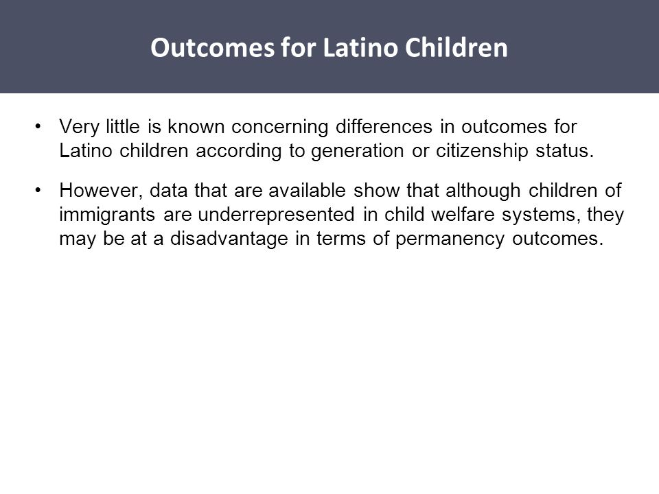 Disparities Affecting Latino Children