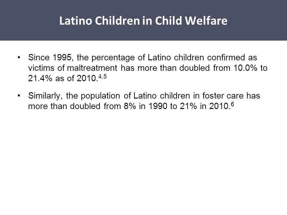Latino Children in Child Welfare