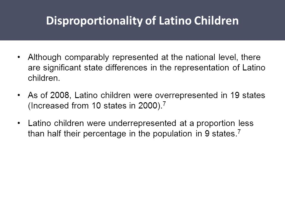 Disproportionality of Latino Children
