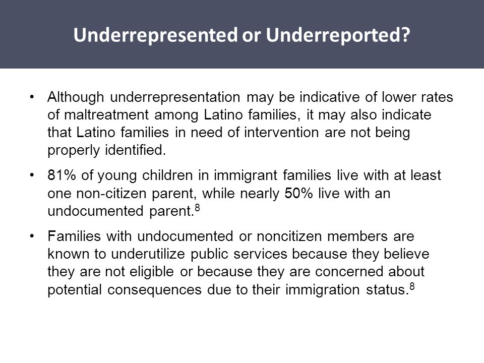 Underrepresented or Underreported
