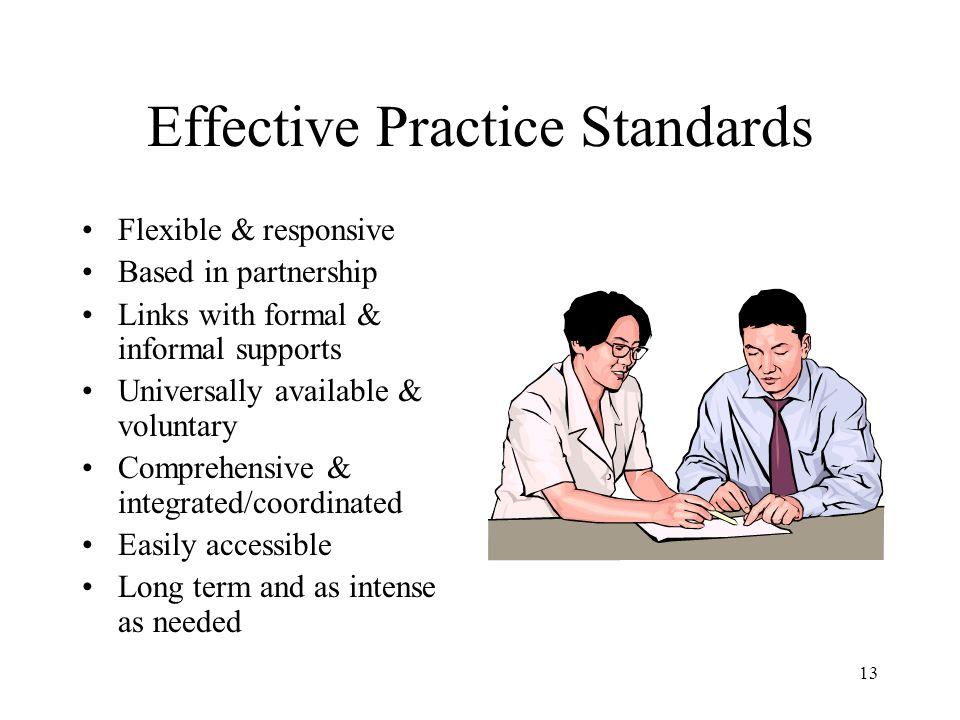 Effective Practice Standards