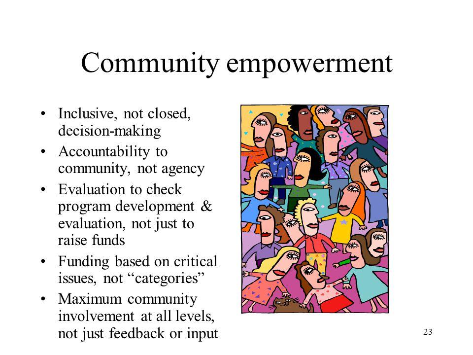 Community empowerment