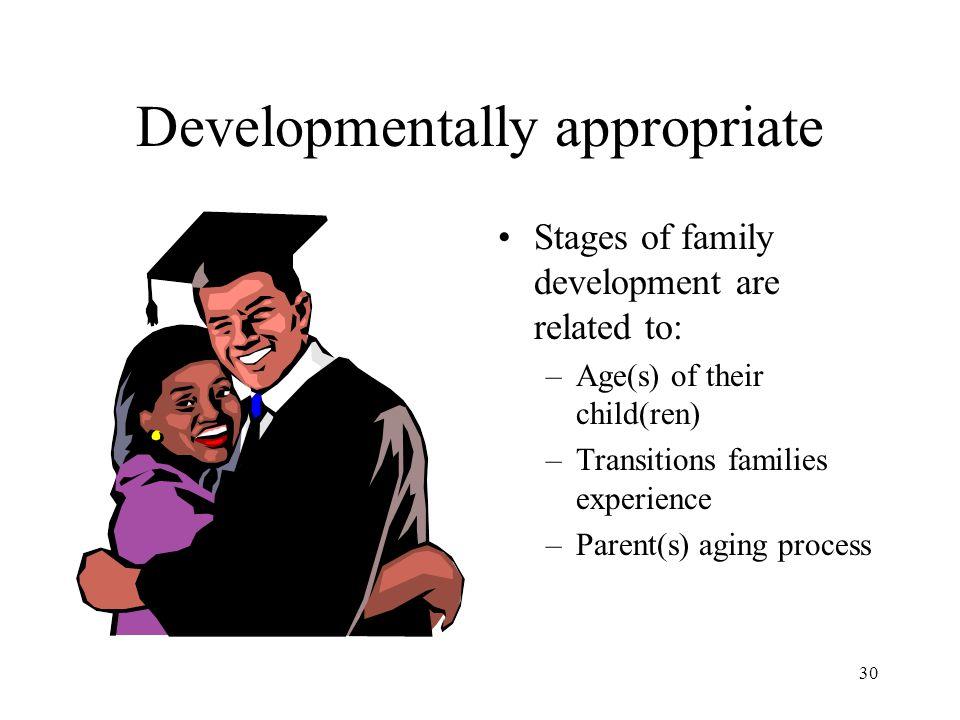 Developmentally appropriate