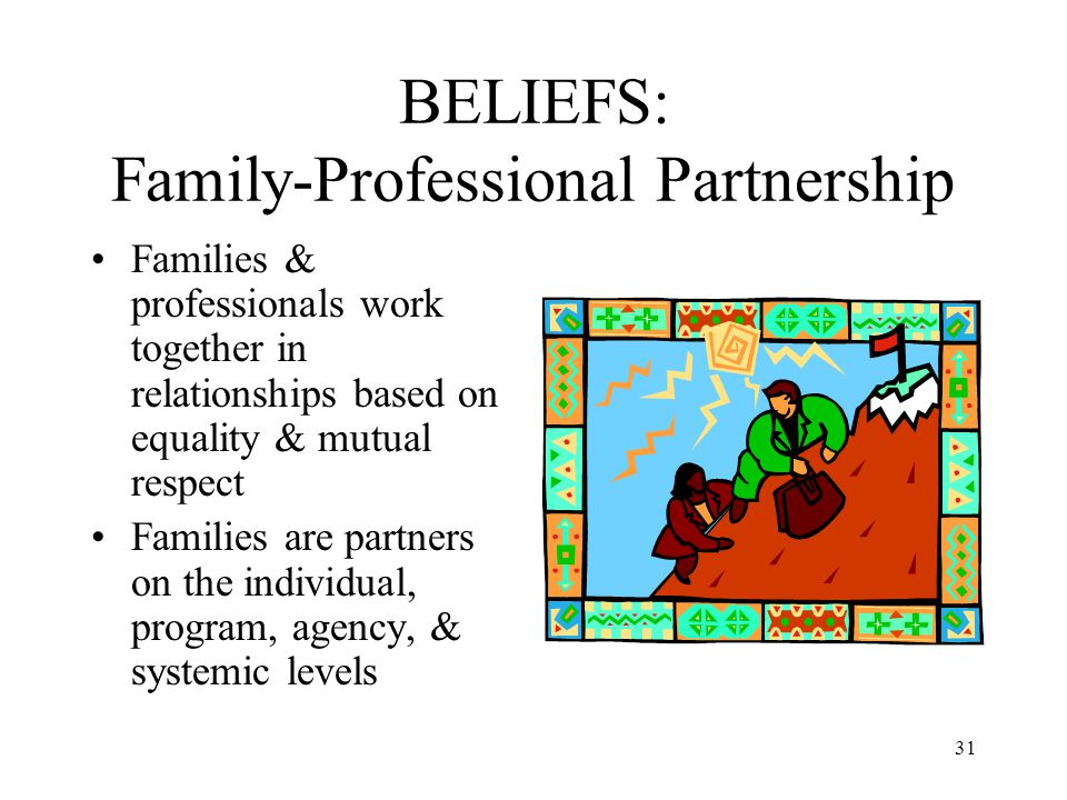 BELIEFS: Family-Professional Partnership