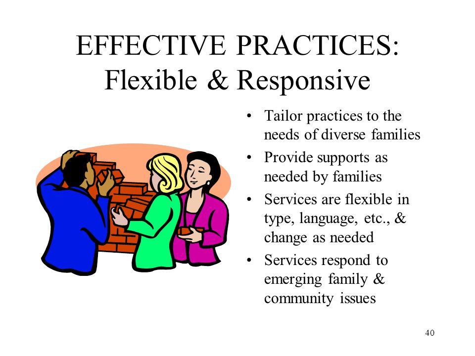 EFFECTIVE PRACTICES: Flexible & Responsive
