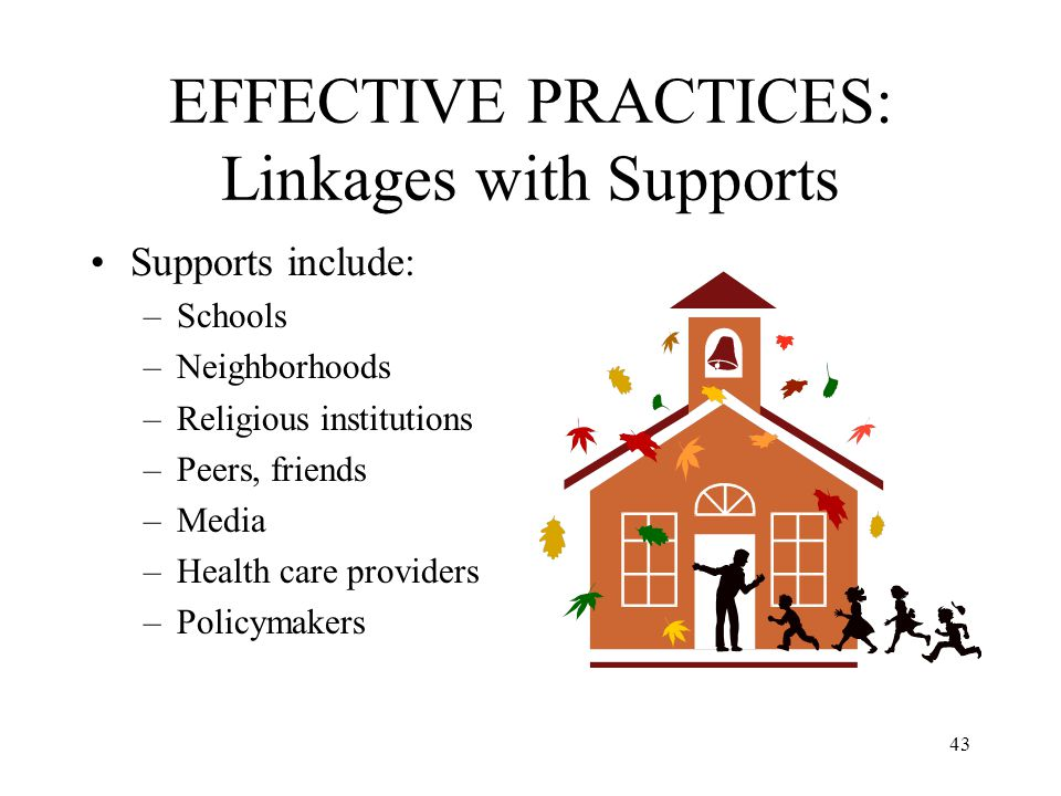 EFFECTIVE PRACTICES: Linkages with Supports