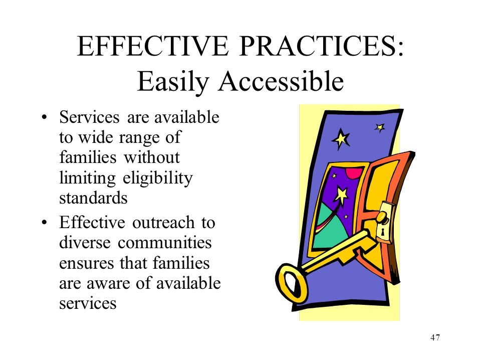 EFFECTIVE PRACTICES: Easily Accessible