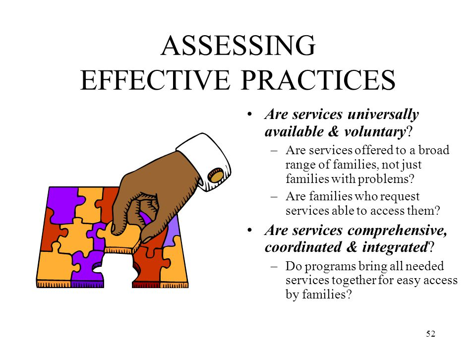 ASSESSING EFFECTIVE PRACTICES