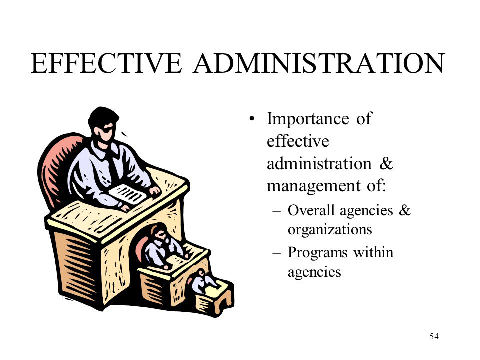 EFFECTIVE ADMINISTRATION