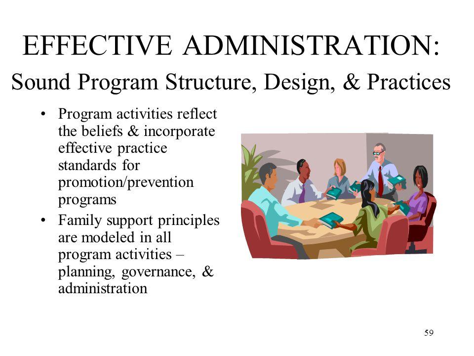 EFFECTIVE ADMINISTRATION: Sound Program Structure, Design, & Practices