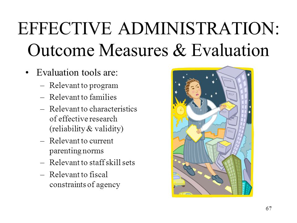 EFFECTIVE ADMINISTRATION: Outcome Measures & Evaluation