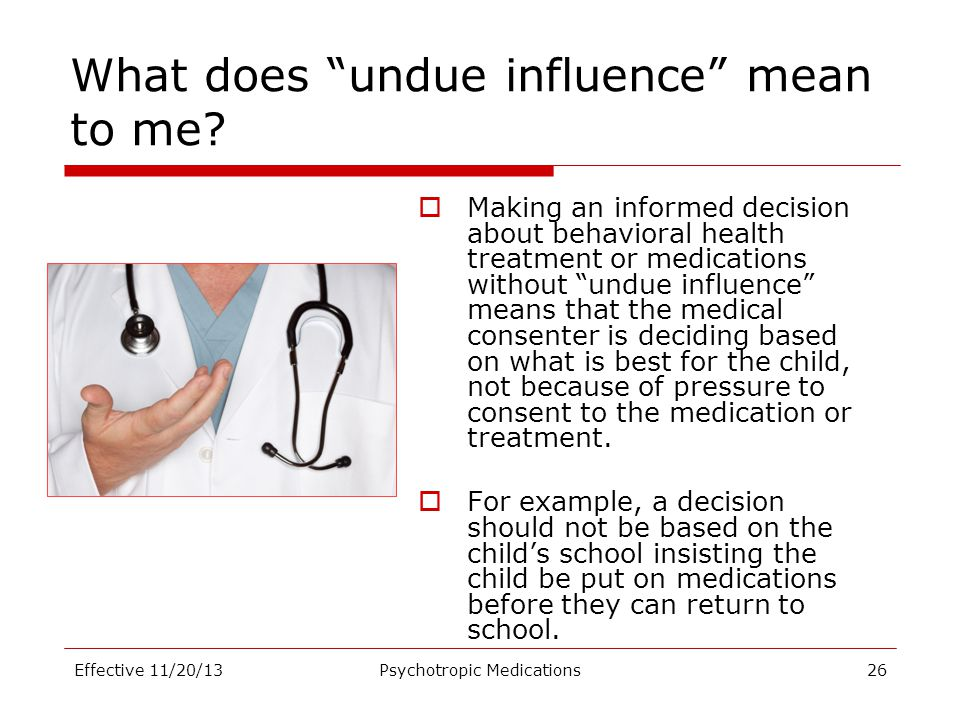What does undue influence mean to me