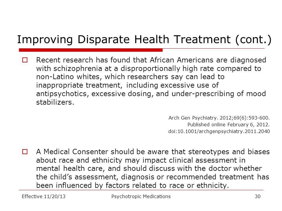 Improving Disparate Health Treatment (cont.)