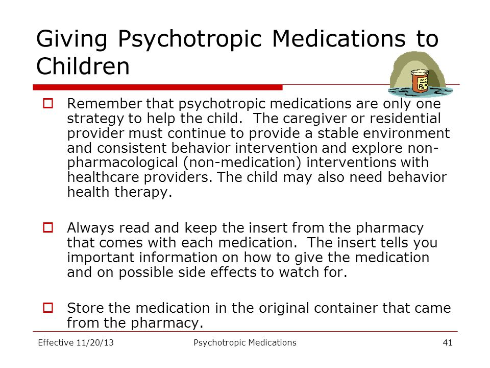 Giving Psychotropic Medications to Children