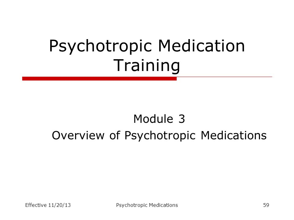 Psychotropic Medication Training