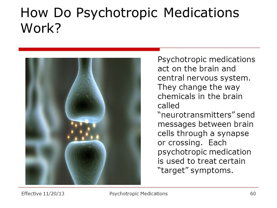 How Do Psychotropic Medications Work