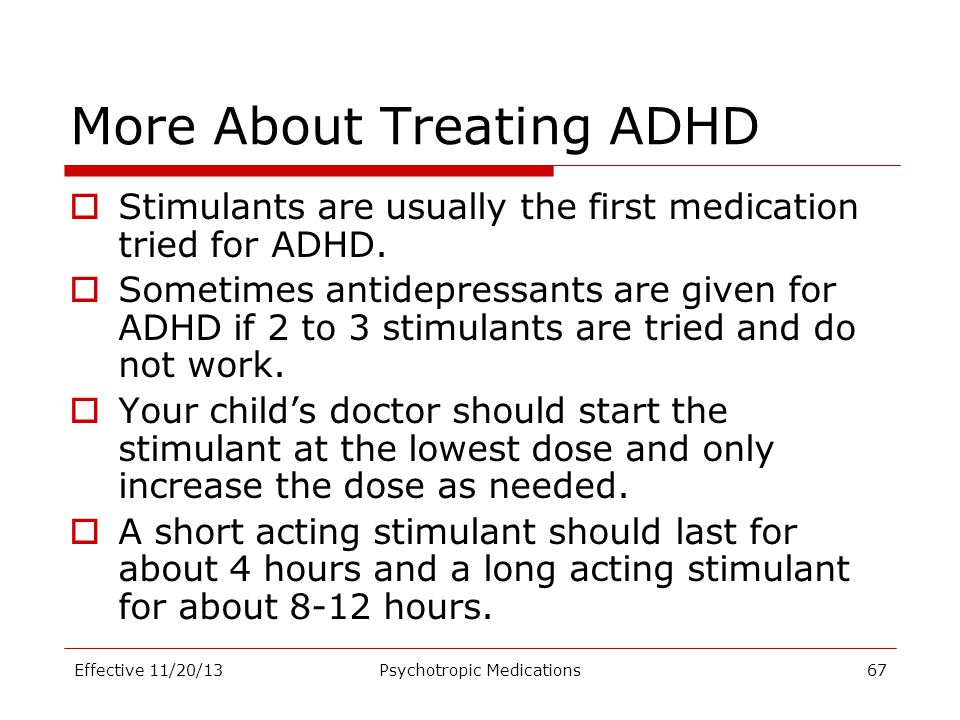 More About Treating ADHD