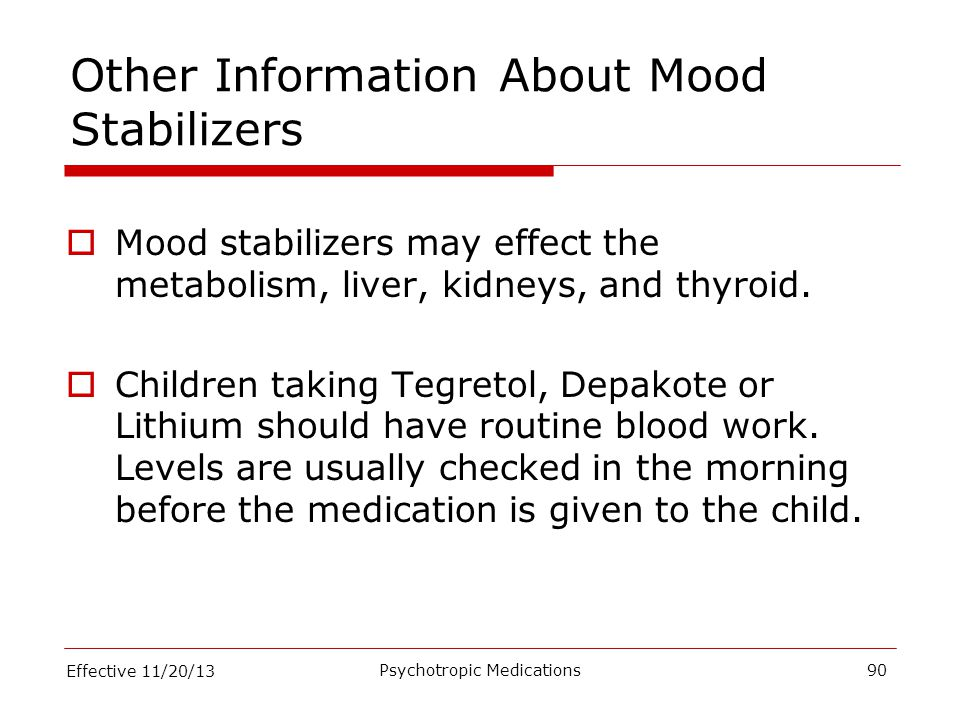 Other Information About Mood Stabilizers