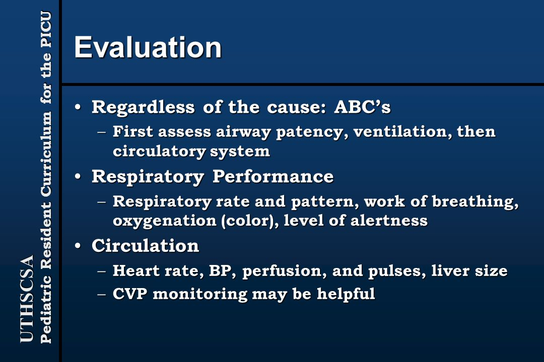 Evaluation Regardless of the cause: ABC's Respiratory Performance