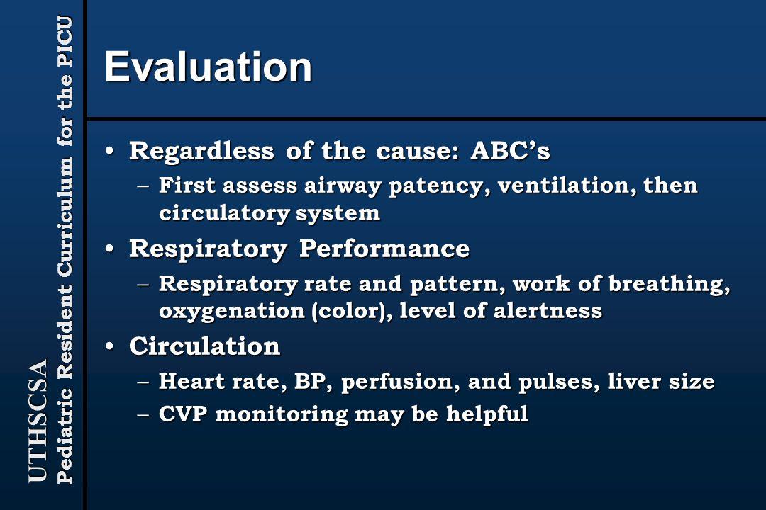 Evaluation Regardless of the cause: ABC's Respiratory Performance
