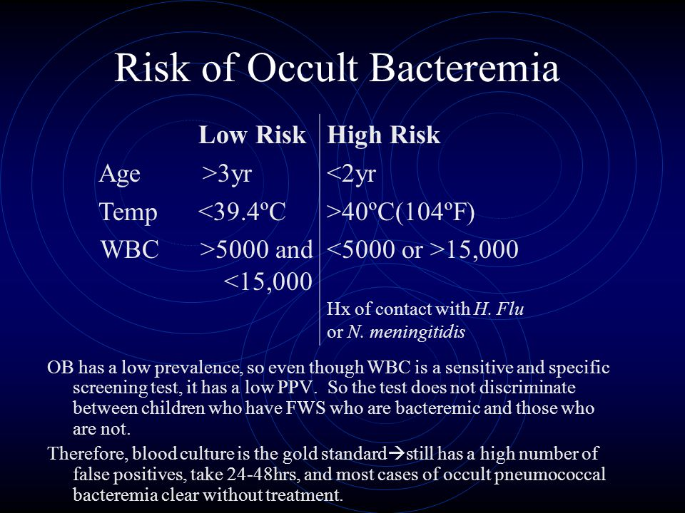 Risk of Occult Bacteremia