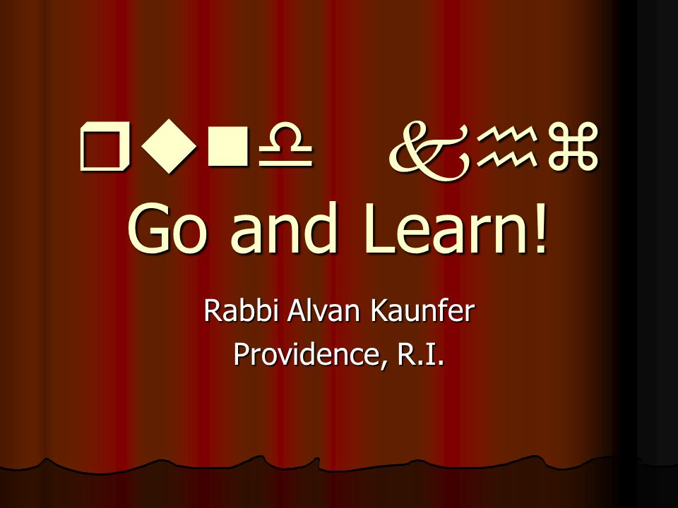 Rabbi Alvan Kaunfer Providence, R.I.