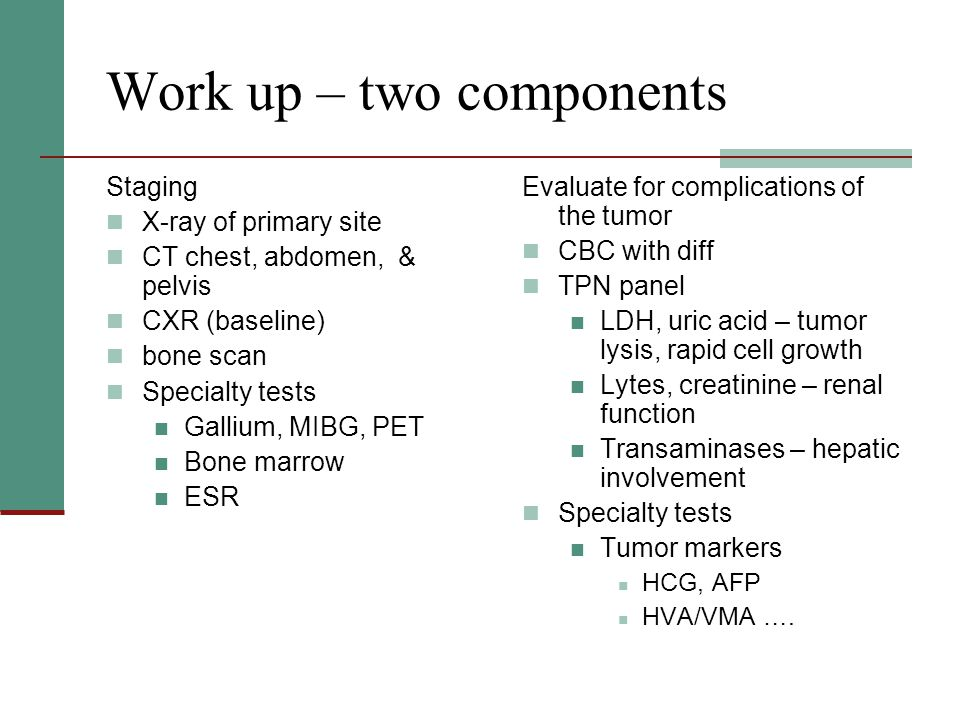 Work up – two components