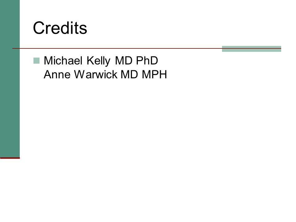 Credits Michael Kelly MD PhD Anne Warwick MD MPH