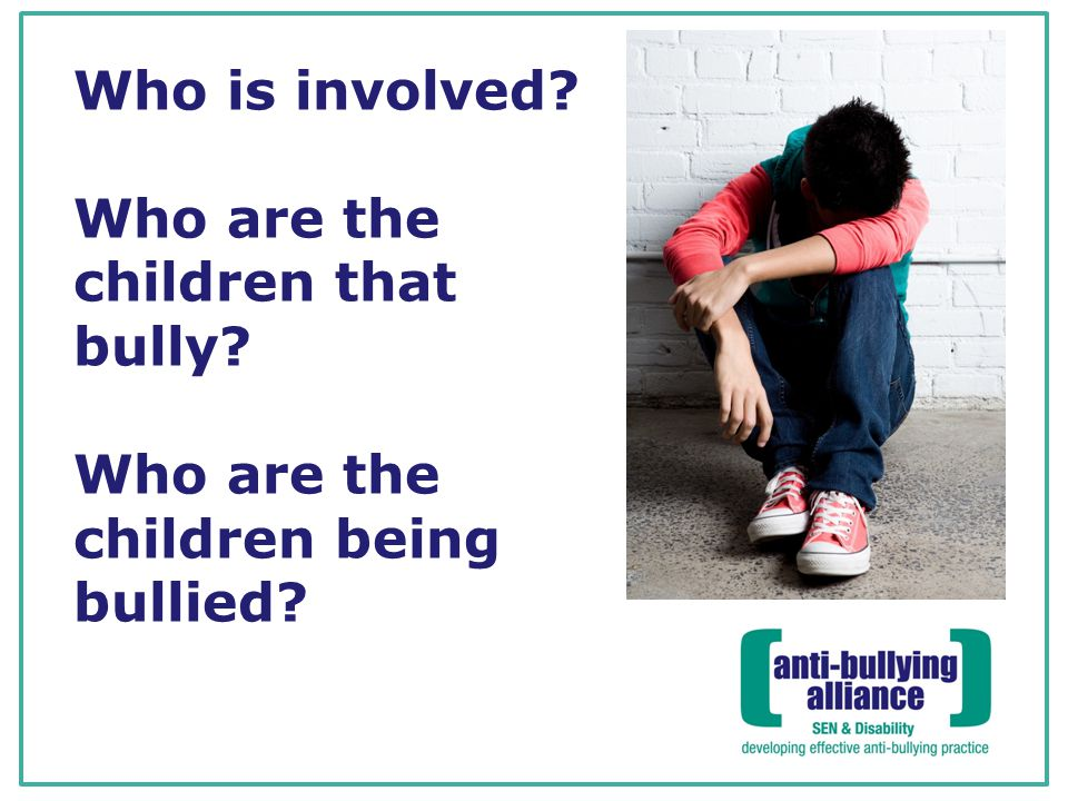Who is involved. Who are the children that bully